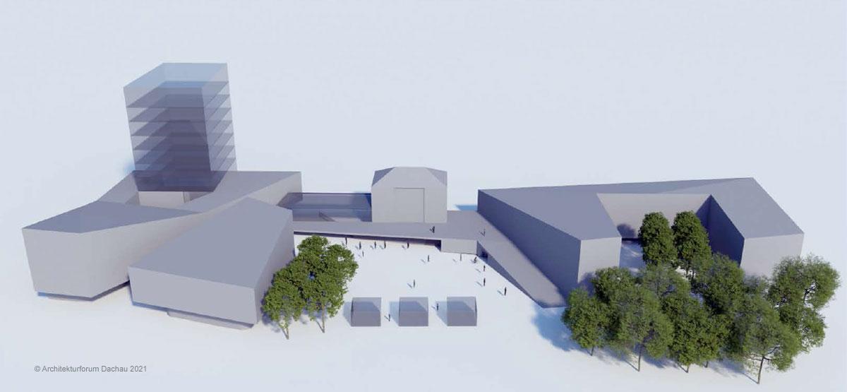 Visualisierung Konzeptstudie A6 Bahnhofsvorplatz Dachau ©Architektuforum Dachau 2021