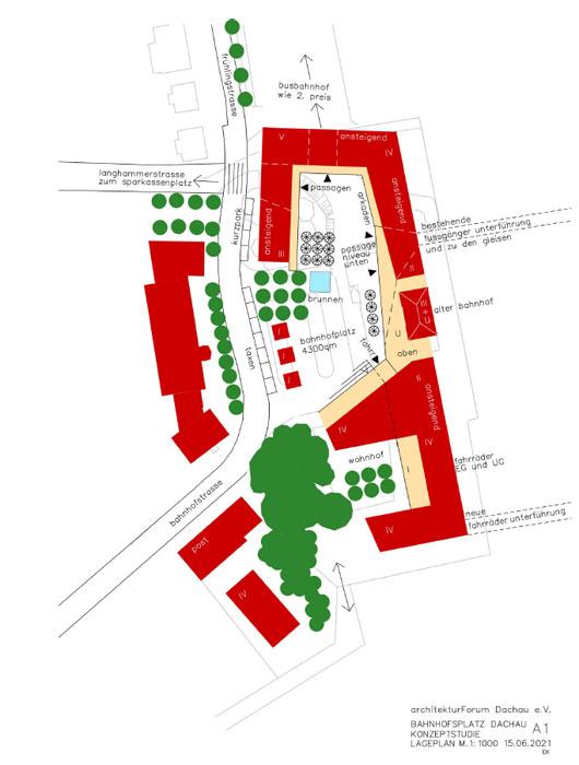 Konzeptstudie A1 Bahnhofsvorplatz Dachau ©Architektuforum Dachau 2021