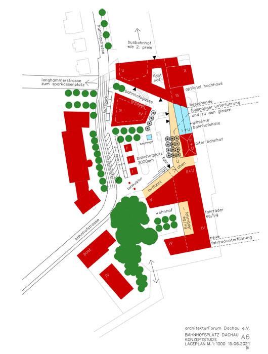 Konzeptstudie A6 Bahnhofsvorplatz Dachau ©Architektuforum Dachau 2021