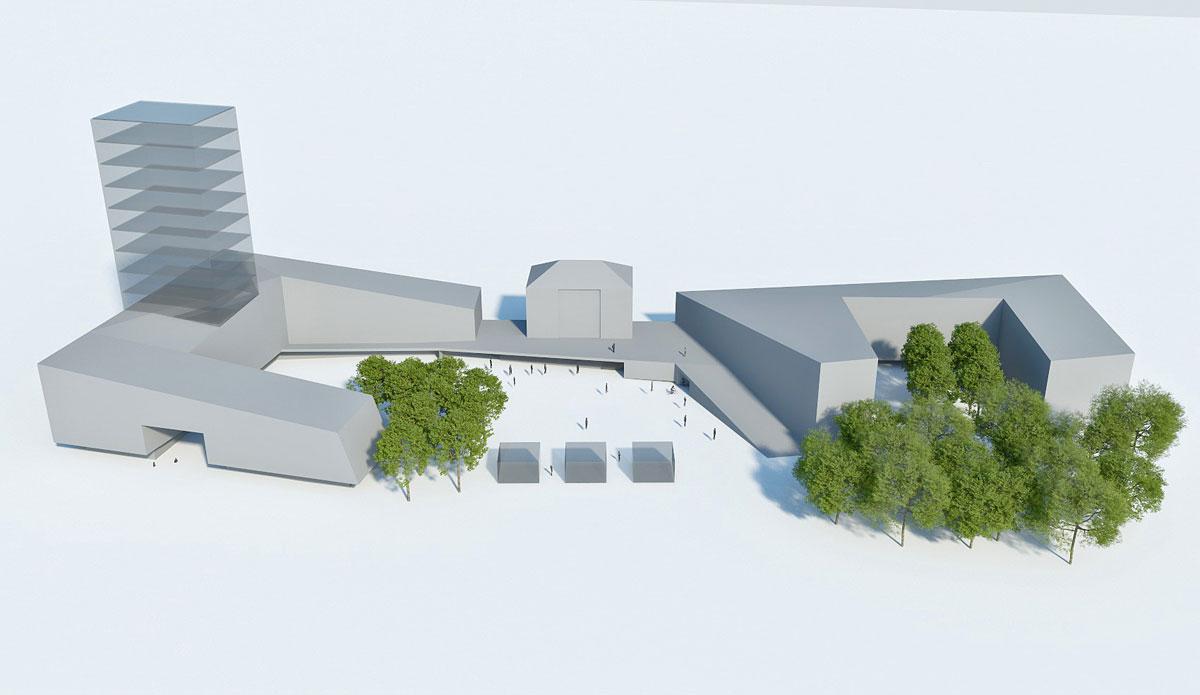Visualisierung Konzeptstudie Bahnhofsvorplatz in Dachau ©Architektuforum Dachau 2021